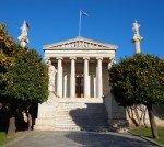 Athènes 22 décembre 2013 Le ciel est bleu.