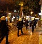 Athènes, police sur Akadimias, 06/12/13.