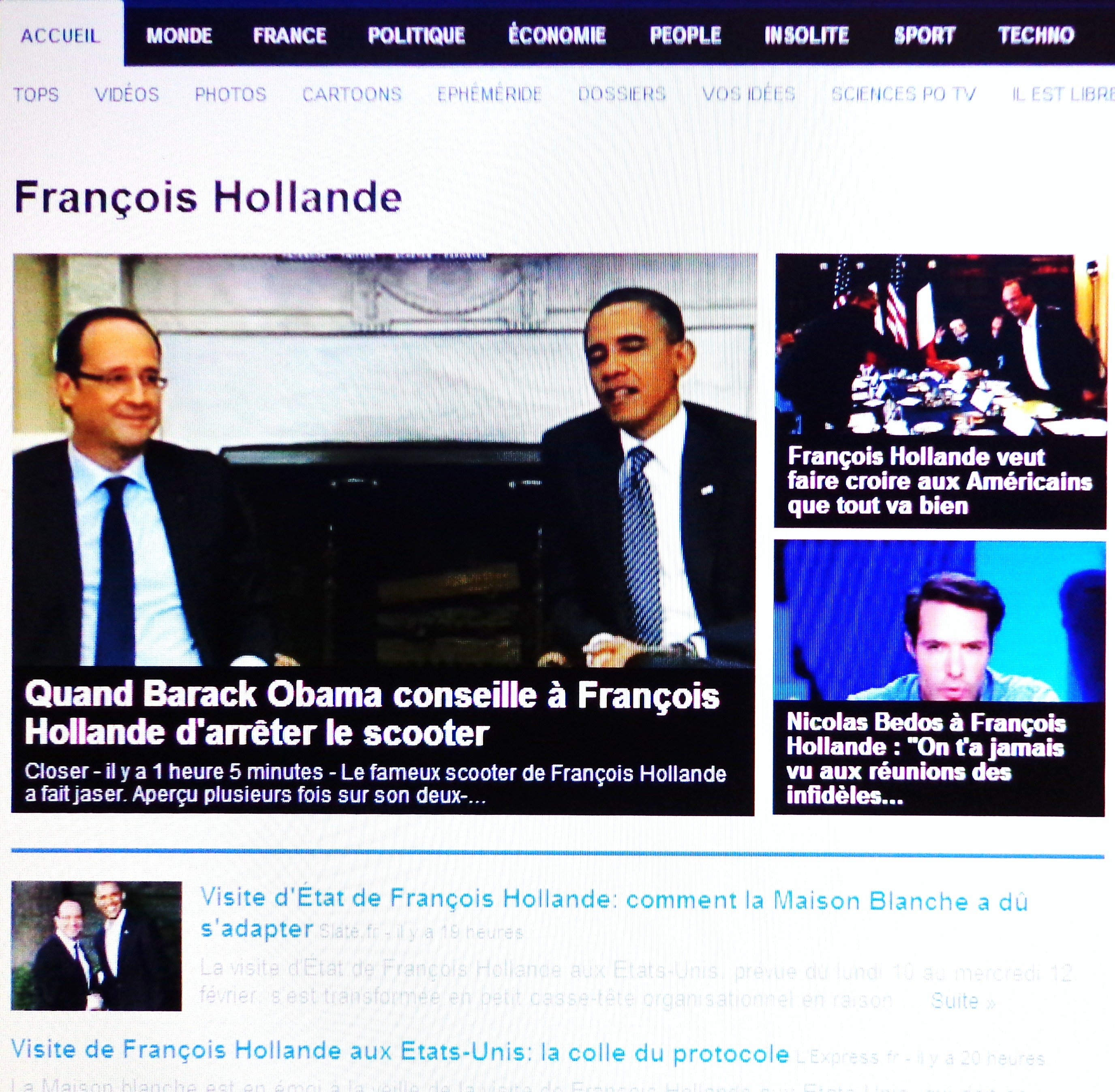 rencontre obama hollande video