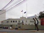 Le bunker de l'Ambassade de France à Lima.